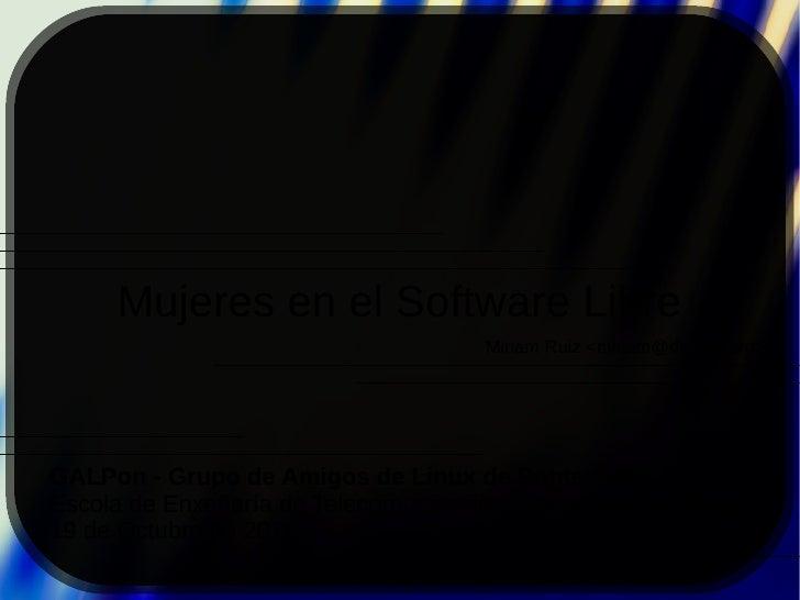 Mujeres en el Software Libre (2011)