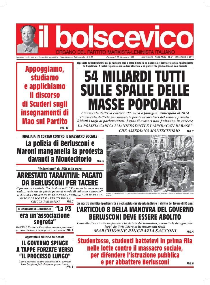 Spedizione in A.P. - 45% art. 2 Comma 20/b legge 662/96 - Filiale di Firenze - Settimanale -   € 1,50             Fondato ...