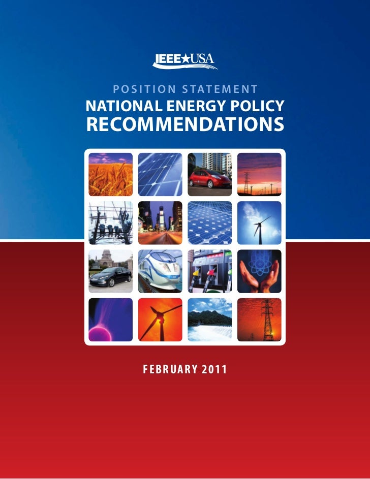 2011 National Energy Policy Recommendations   IEEE-USA