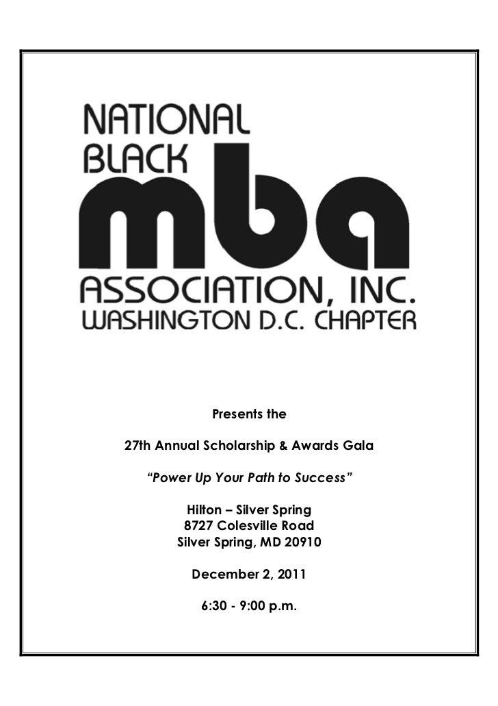 2011 NBMBAA-DC Scholarship & Awards Gala Program