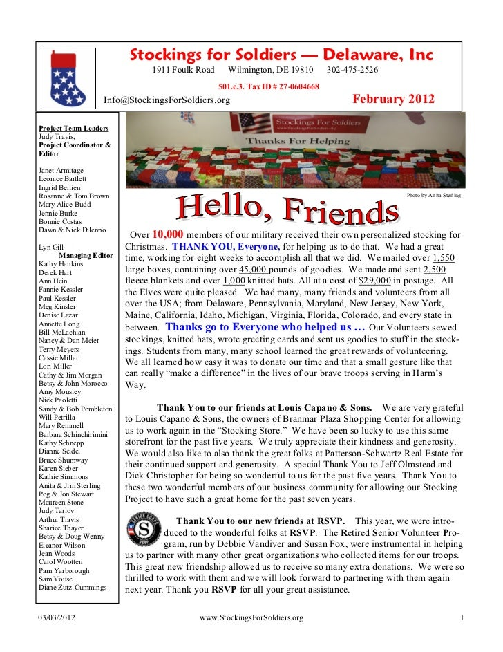 2011 Newsletter Sf S Feb 2012