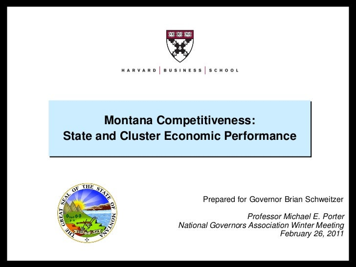 Montana Competitiveness:                     State and Cluster Economic Performance                                       ...