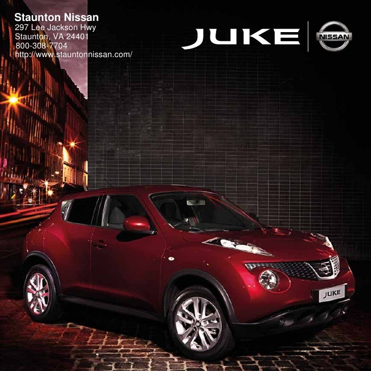Staunton Nissan 297 Lee Jackson Hwy Staunton, VA 24401 800-308-7704 http://www.stauntonnissan.com/