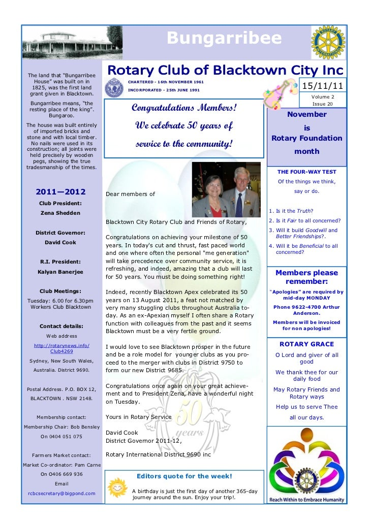 Bungarribee 2011 nov 15  issue 20