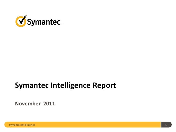 2011 November Symantec Intelligence Report