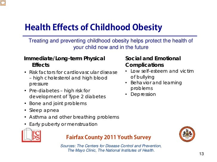 """effects of obesity on children The effects of obesity can start in children as young as seven years old """"we are seeing more and more children referred by their pediatrician because of abnormal thyroid labs,"""" said dr."""