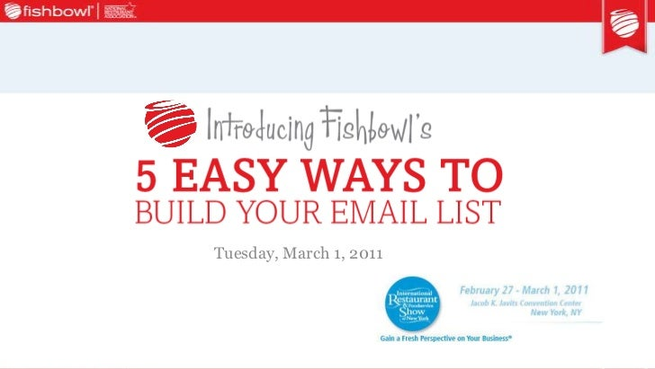 2011 nysra show seminar deck so 5 tips to build your email list 3 1-2011