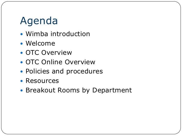 2011 OTC Online Remote Adjunct Orientation