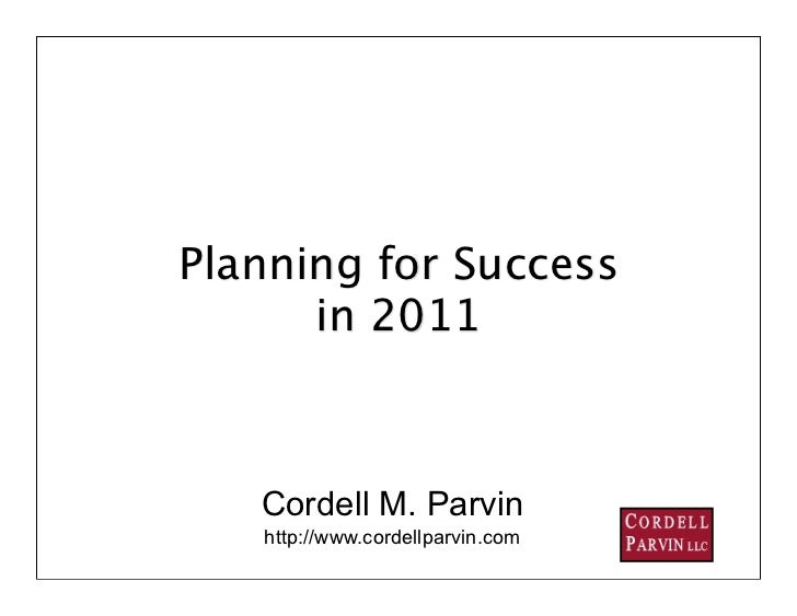 Lawyer 2011 planning presentation