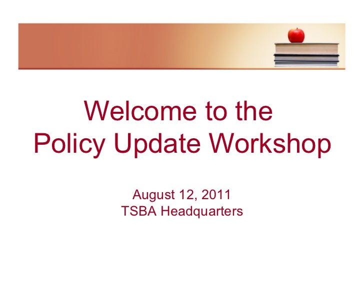 2011 policy update  legislativeupdate