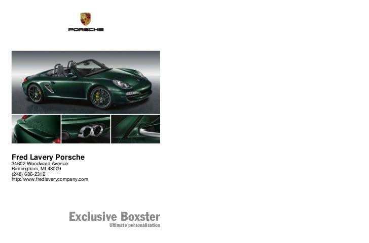 2011 Porsche Boxster For Sale MI | Porsche Dealer Near Detroit