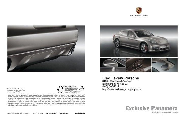 2011 Porsche Panamera For Sale MI | Porsche Dealer Near Detroit