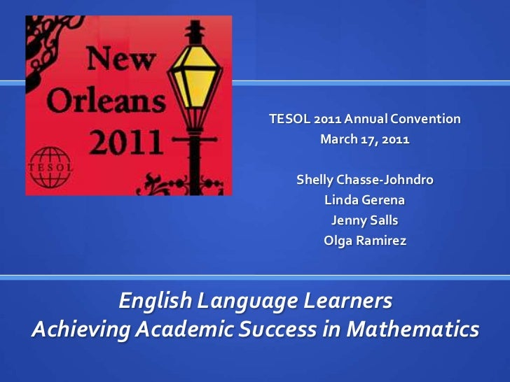 TESOL 2011 Annual Convention<br />March 17, 2011<br />Shelly Chasse-Johndro<br />Linda Gerena<br />Jenny Salls<br />Olga R...