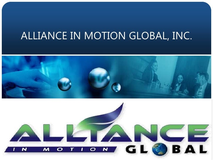 ALLIANCE IN MOTION GLOBAL, INC.<br />