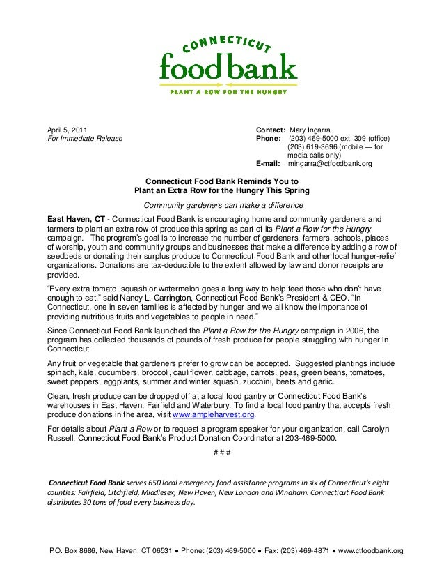 Plant a Row for the Hungry - Connecticut Food Bank
