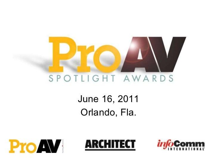 June 16, 2011 Orlando, Fla.