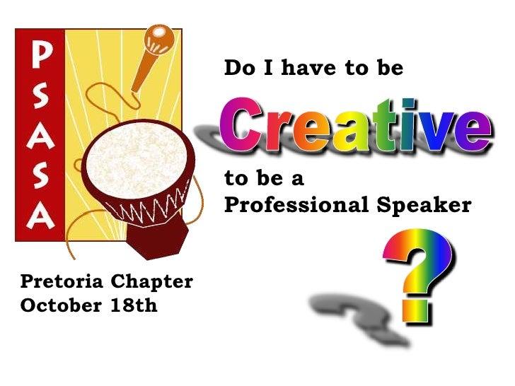 2011 psasa pretoria be creative 2