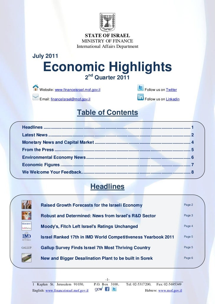 Economic Highlights Newsletter, Q2 2011