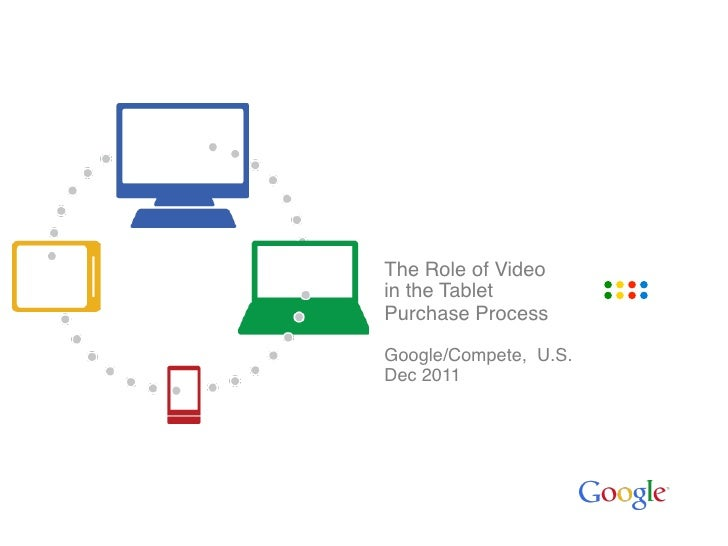 """The Role of Video in the Tablet """"Purchase Process""""""""Google/Compete, U.S.""""Dec 2011"""