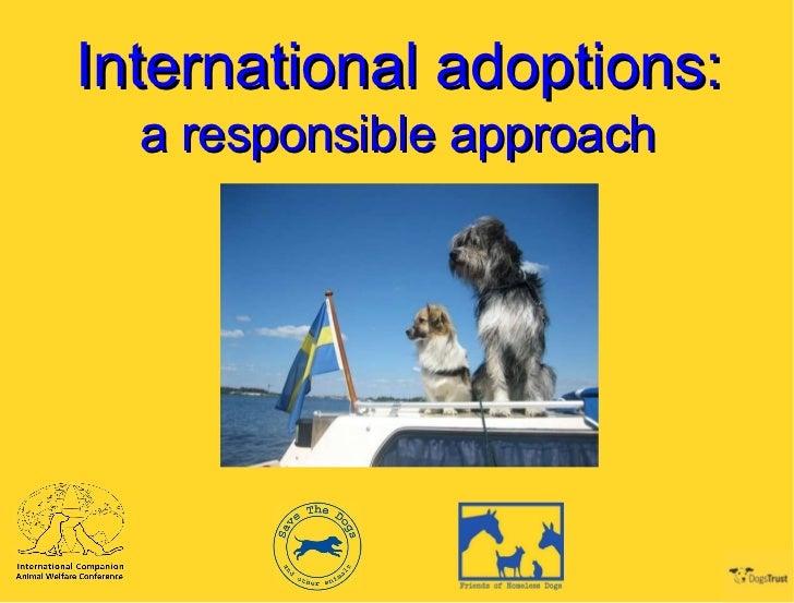 International adoptions: a responsible approach
