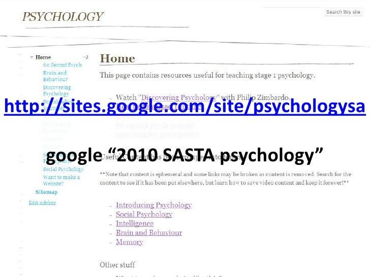 """http://sites.google.com/site/psychologysagoogle """"2010 SASTA psychology""""<br />"""