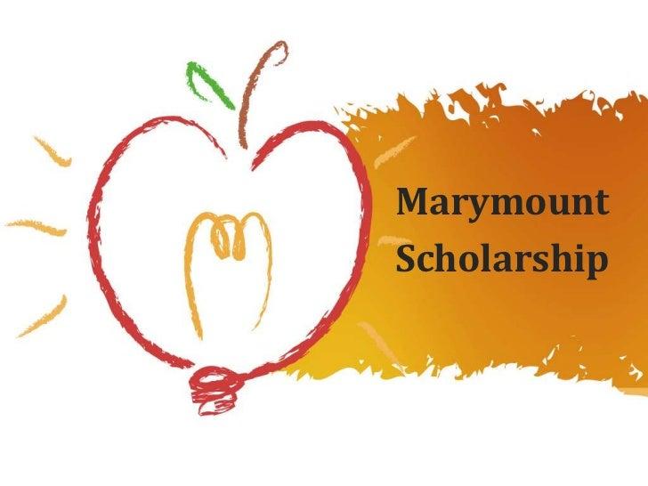 MarymountScholarship
