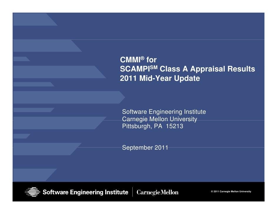 2011 Sep CMMI Process Maturity Report