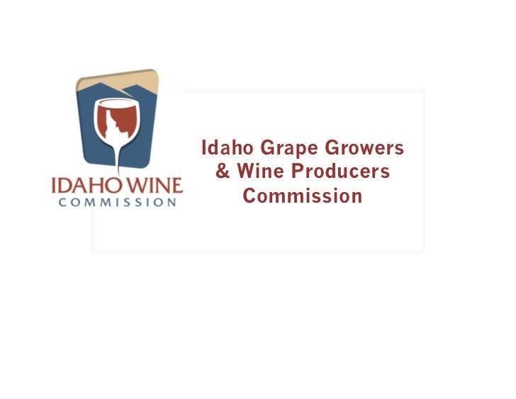 Idaho Grape Growers  & Wine Producers    Commission