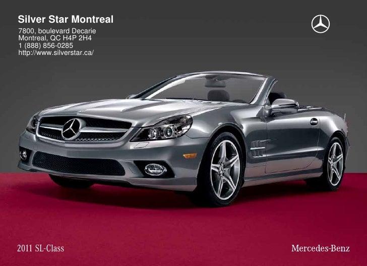 2011 Mercedes Benz SL550 Roadster Silver Star Montreal QC Canada