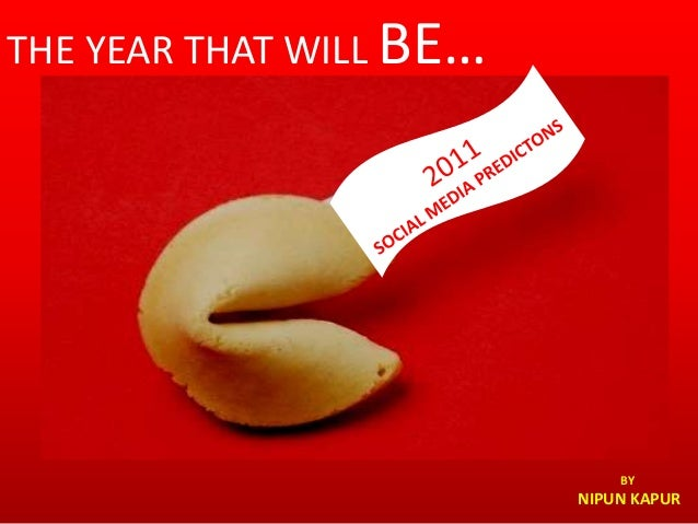 THE YEAR THAT WILL BE… BY NIPUN KAPUR