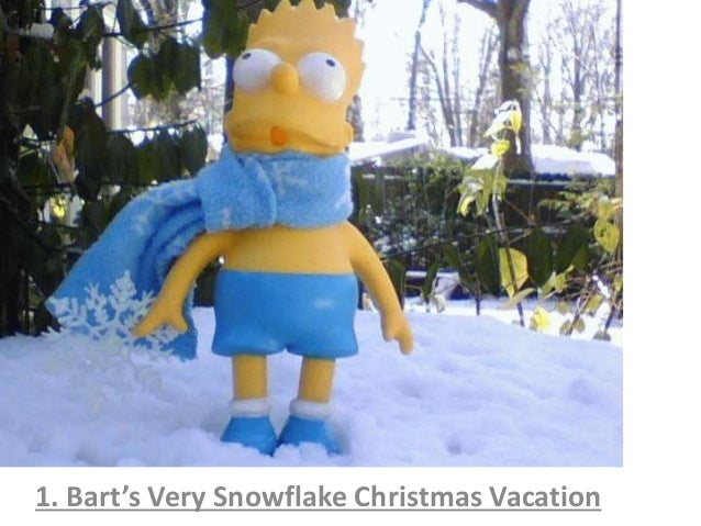 1. Bart's Very Snowflake Christmas Vacation