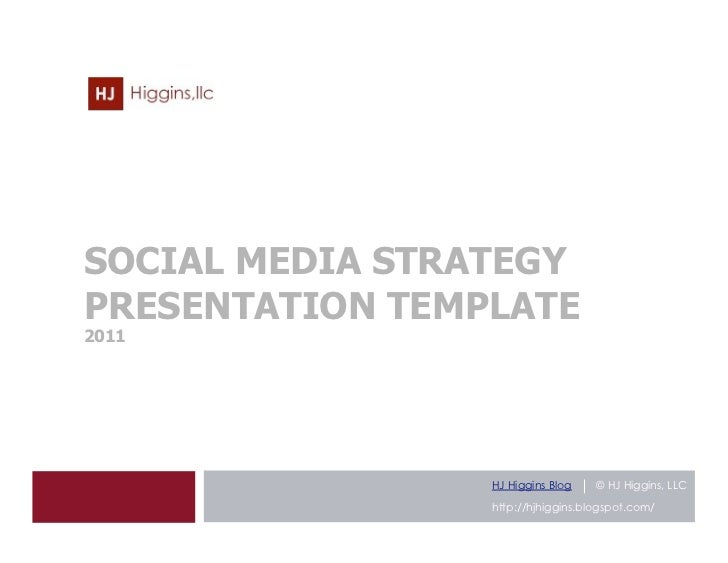 Social Media Strategy Presentation Template