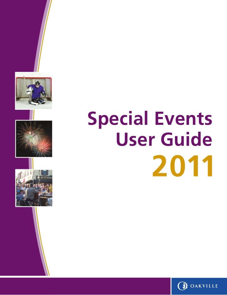 Special Events   User Guide