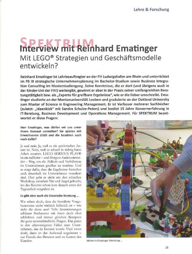 Interview zu LEGO SERIOUS PLAY® mit SPEKTRUM