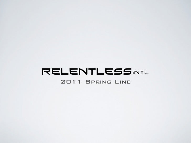 2011 Spring Line