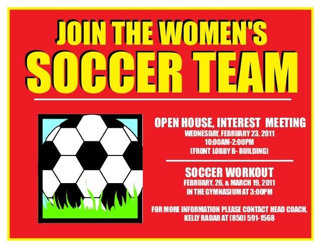 2011 Spring Women's Soccer Flyer