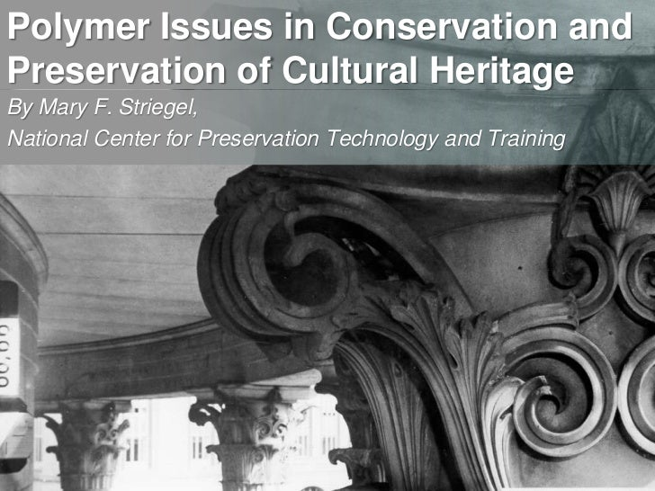 Polymer Issues in Conservation and Preservation of Cultural Heritage<br />By Mary F. Striegel, <br />National Center for P...