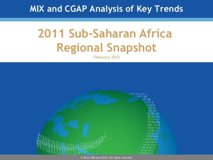 2011 Sub-Saharan Africa  Regional Snapshot February 2012