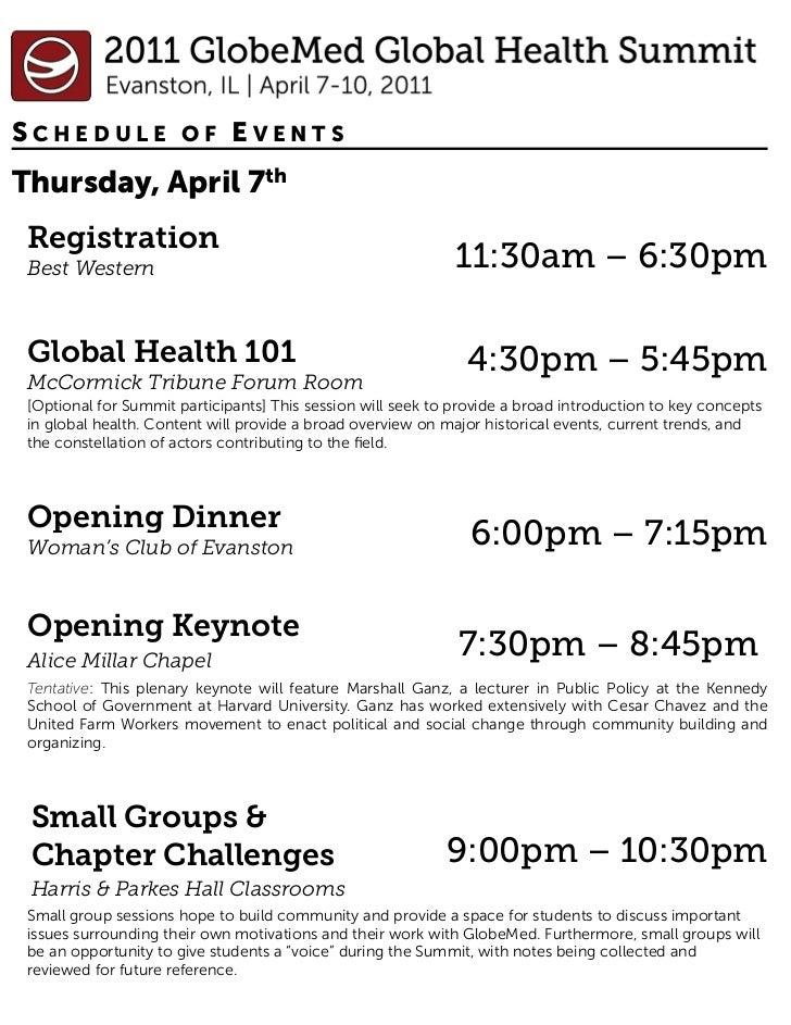 2011 summit schedule web