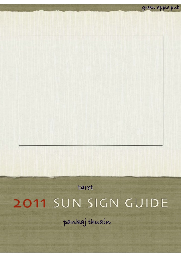 green apple pub         tarot2011 SUN SIGN GUIDE      pankaj thuain