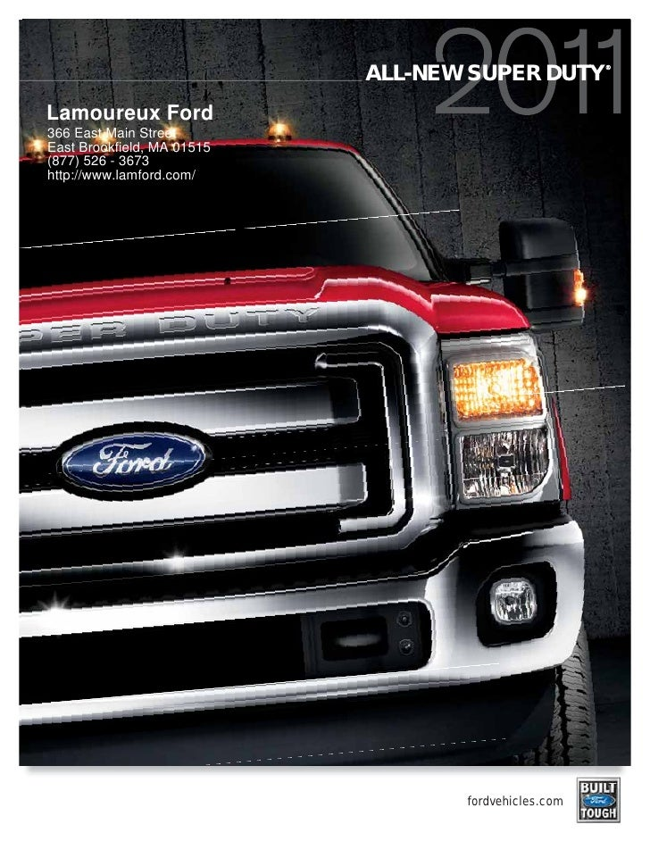 2011 Ford Super Duty Lamoureux Ford MA