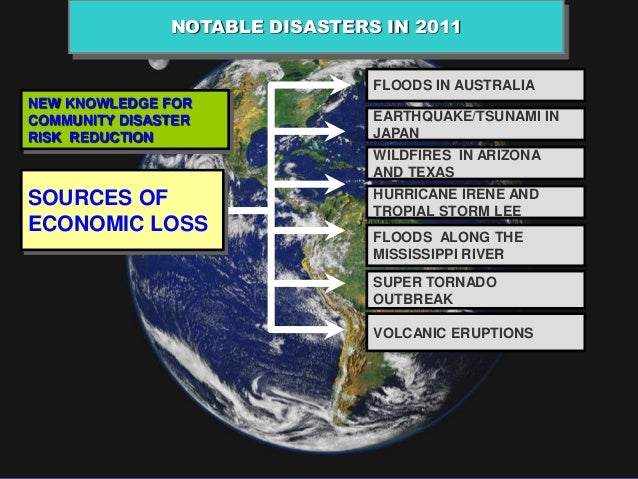 NOTABLE DISASTERS IN 2011                                FLOODS IN AUSTRALIANEW KNOWLEDGE FORCOMMUNITY DISASTER           ...