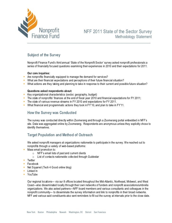 NFF 2011 State of the Sector Survey                                                                                     Me...