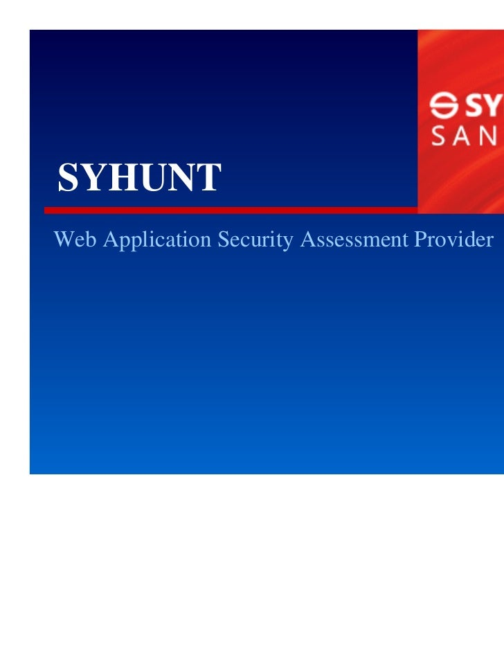 SYHUNTWeb Application Security Assessment Provider