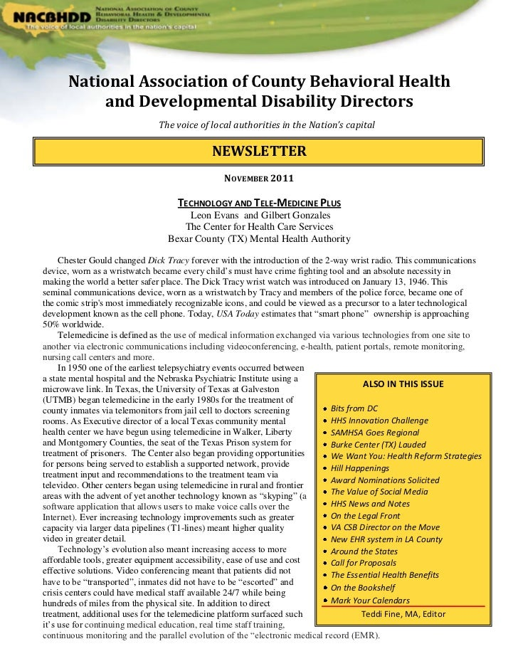 National Association of County Behavioral Health           and Developmental Disability Directors                         ...