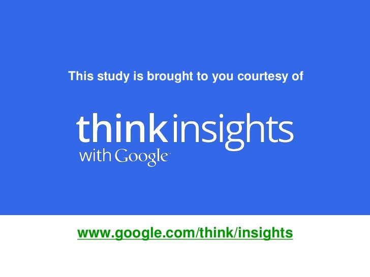 Google research about smartphone usage in 2011