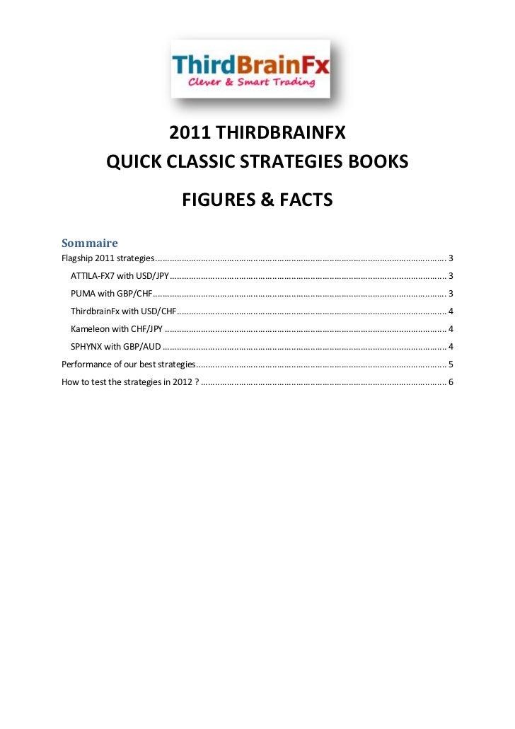2011 THIRDBRAINFX                 QUICK CLASSIC STRATEGIES BOOKS                                             FIGURES & FAC...