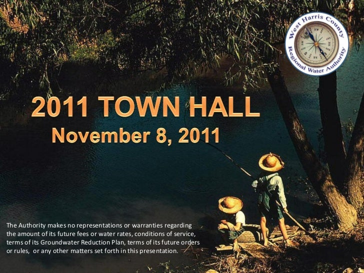 WHCRWA 2011 Town Hall Meeting Nov 8, 2011