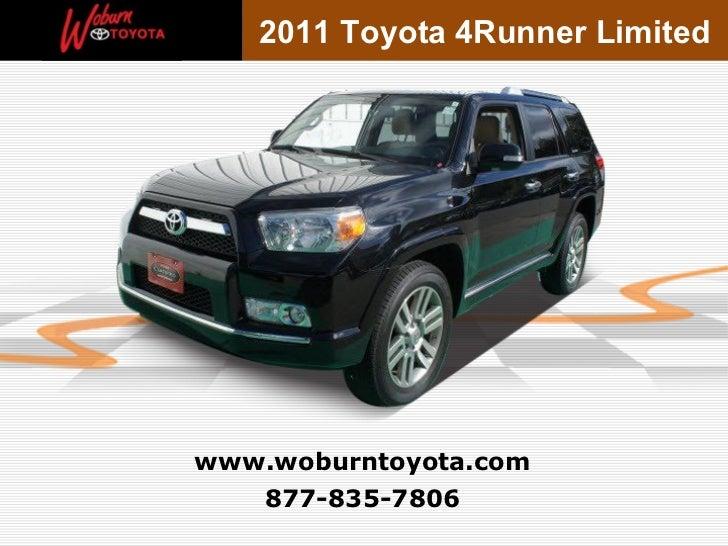 2011 Toyota 4Runner Limitedwww.woburntoyota.com   877-835-7806