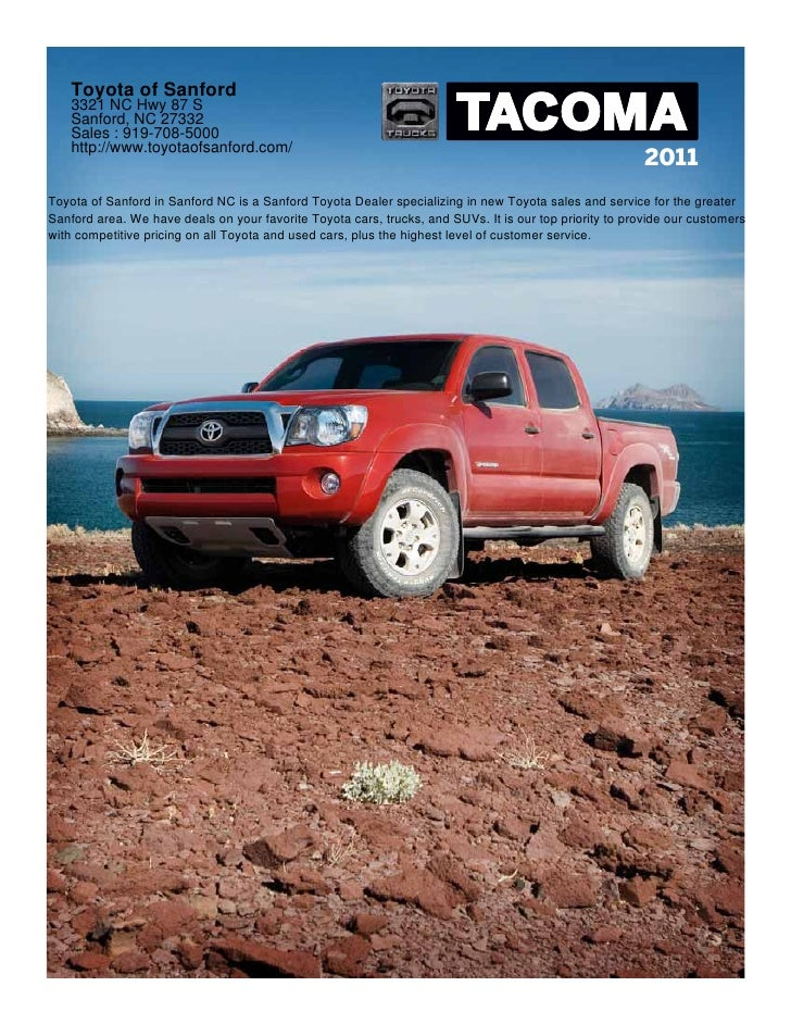 2011 Toyota Tacoma Toyota of Sanford Raleigh NC